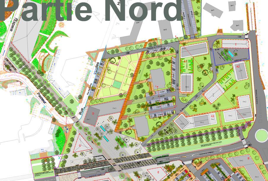 Aménagement partie nord projet coeur de ville